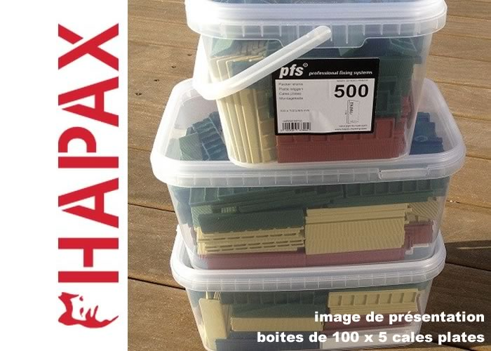 Hapax - Cales plates 5 x 22 x 100 mm