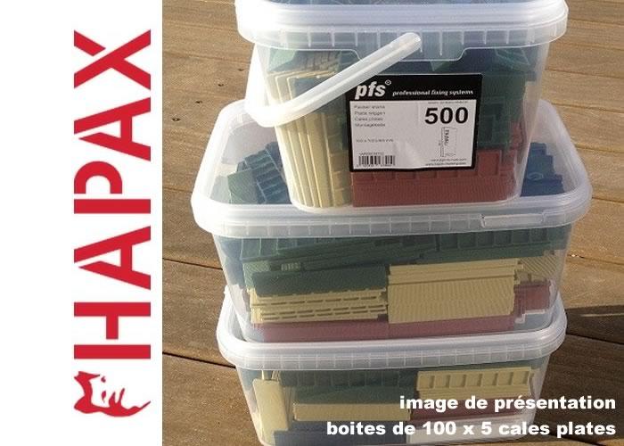 Hapax - Cales plates 2 x 22 x 100 mm