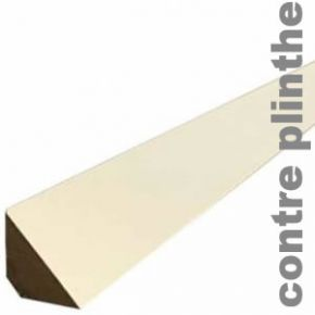 Contre Plinthe MDF Blanche - 15 x 15 mm - Triangle