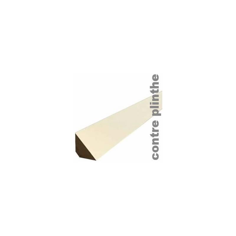 Contre Plinthe Mdf Blanche 15 X 15 Mm Triangle Barre 2400 Mm