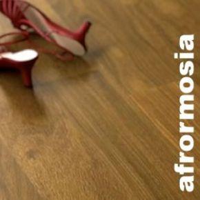 Parquet massif planchette Afrormosia - 10 x 60 mm - brut