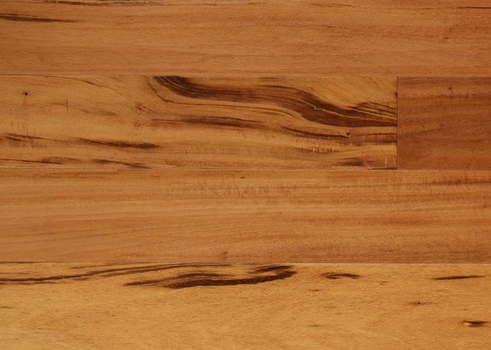 Parquet contrecollé Tigerwood Muiracatiara - 10 x 120 mm verni
