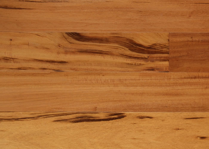 Parquet massif Tigerwood Muiracatiara - 12 x 110 mm - verni satiné