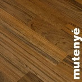 Parquet massif planchette Mutenye - 10 x 60 mm - brut