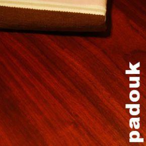 Parquet massif Padouk - 10 x 70 mm - brut