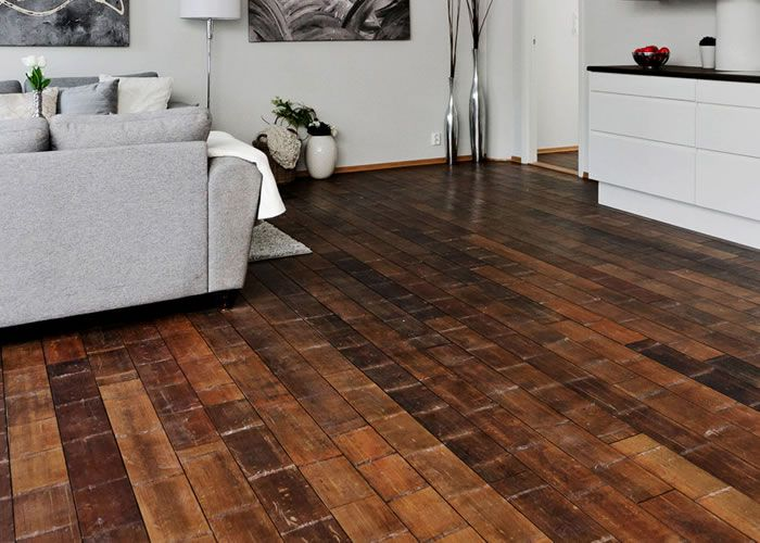Parquet Massif Bambou Forest MOSO - 18 x 125 x 1210 mm - Ciré - Horizontal Noeud Large