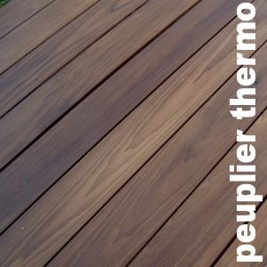 Parquets en bois rétifiés en Peuplier Thermotraite