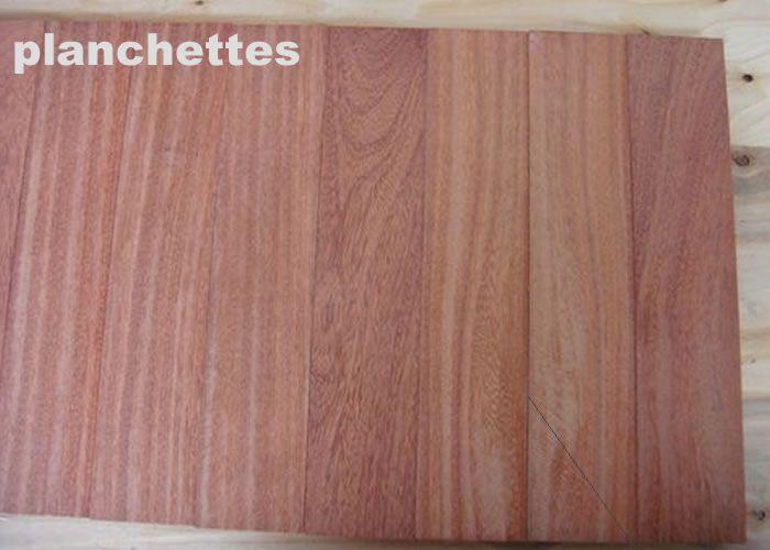 Parquet massif planchette Cumaru rouge Vermelho - 10 x 60 x 300 mm - brut