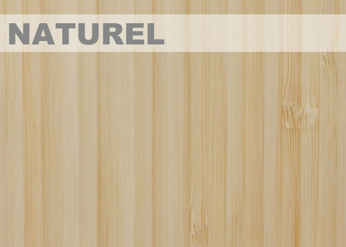 Parquet Massif Bambou Purebamboo Moso - 15 x 96 x 960 mm - Verni - Naturel - Vertical
