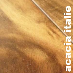 Parquet contrecollé Acacia Italie - 15 x 160 mm - Verni
