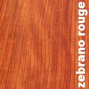Parquet massif planchette Zebrano rouge I Ebiara - 20 x 70 mm - brut - PROMO