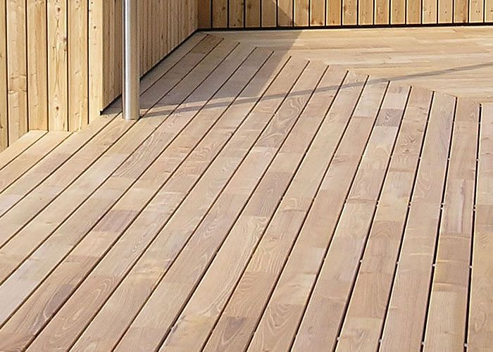 Terrasse - Lames parquet massif Acacia - 20 x 120 mm - 1 face lisse - PROMO