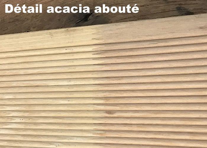 Terrasse - Lames parquet massif Acacia - 20 x 120 x 3600 mm - Abouté - PROMO