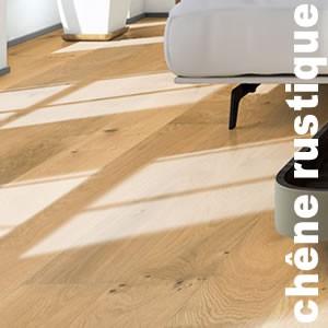 Parquet contrecollé Chêne Rustique - 14,5 x 155 x 400 à 1800 mm - brossé huilé naturel