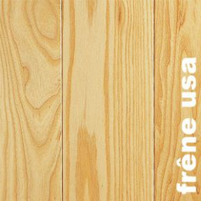 Parquet massif en Frene USA - 20 x 135 mm - brut