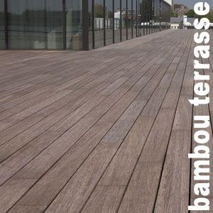 Terrasse Lames Parquet Massif Bambou 20 X 137 X 1850 Mm 1 Face Lisse 1 Face Rainurée