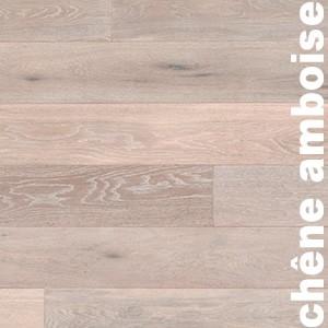 Parquet Contrecollé Chêne Rustique - 15(4) x 189 x 1860 mm - Huilé - Brossé - Fumé - Cérusé blanc - Amboise
