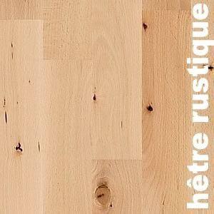 Parquet massif Hetre Europe - 14 x 90 mm rustique brut