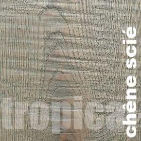 Parquet contrecolle Chene Scie Gris - 15 x 160 mm - brut - sciage - huilé - Chalon