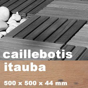 Dalle De Terrasse Pas Cher En Bois Itauba 43 X 43 C M Caillebotis