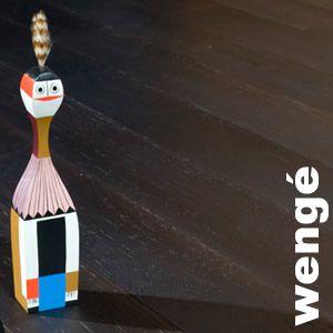 Parquet contrecollé Wengé - 11 x 90 mm - Verni satiné