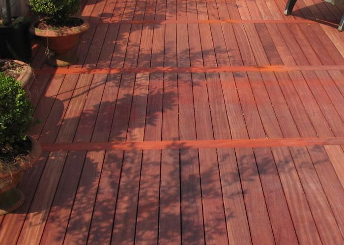 Terrasse - Lames parquet massif PADOUK - 21 x 143 x 1550 / 1850 mm - 2 faces lisses