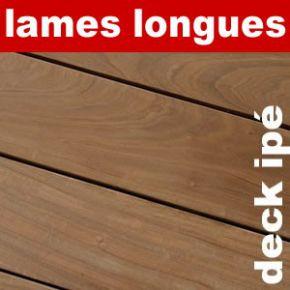 Terrasse - Lames parquet massif IPE - 21 x 145 x 4900 mm