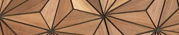 Mosaiques Murales 3D bois massif