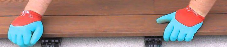 Lames de terrasse exotique à clipser, profil incliné à 45 °