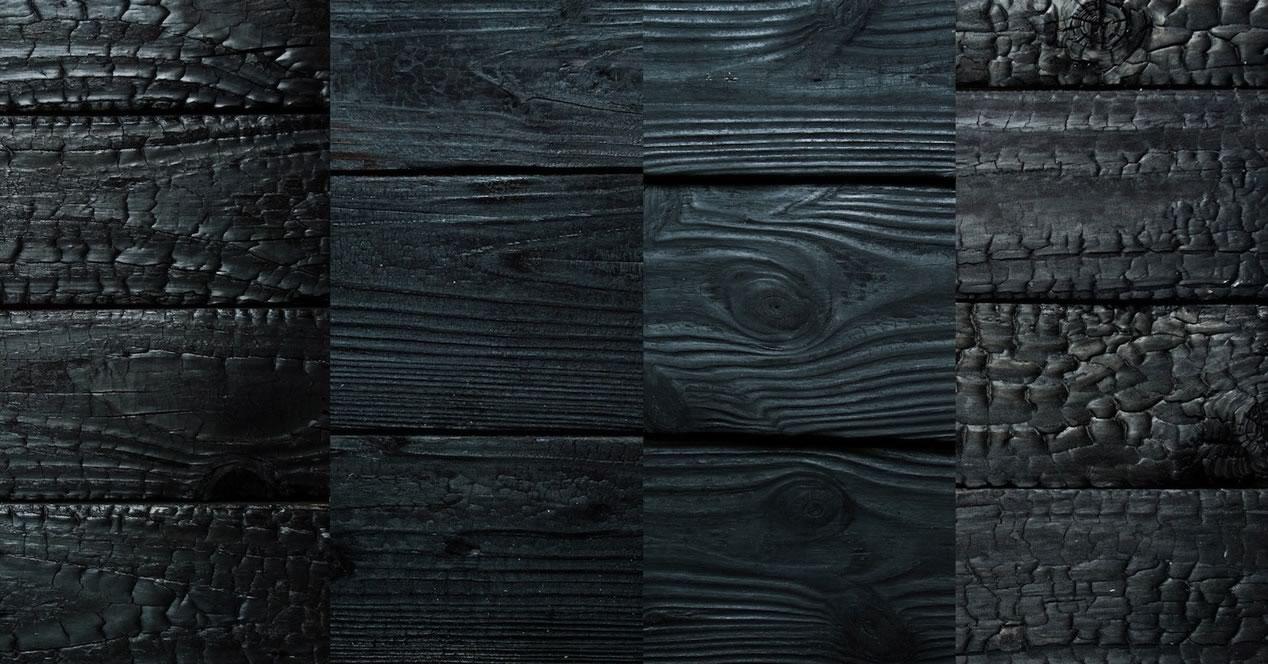 Les bois brûlés ou shou-sugi-ban ou Yakisugi - Bardages en bois brûle d'épicéa de mélèze ou de douglas