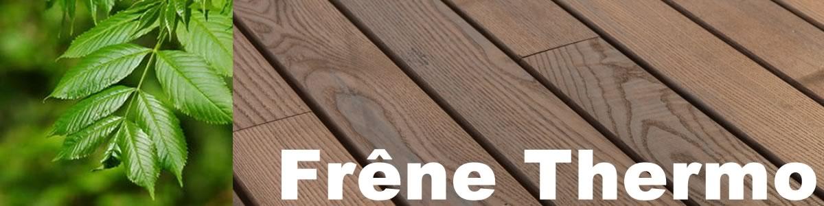 lame de terrasse en frêne thermotraité